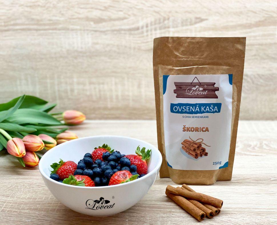 Loveat ovsená fitness kaša s chia semienkami